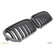 Решетки радиатора (ноздри) BMW F20 F21 2015-2018 горбатые сдвоенные M1 стиль FLAT BLACK GCP-012002