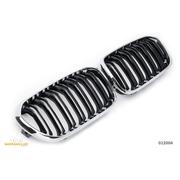 Решетки радиатора (ноздри) BMW F20 F21 2015-2018 горбатые сдвоенные M1 стиль черные / хром GCP-012004