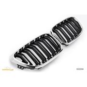 Решетки радиатора (ноздри) BMW F22 F23 горбатые сдвоенные M2 стиль черные / хром GCP-022204