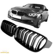 Решетки радиатора (ноздри) BMW F30 F31 горбатые сдвоенные M3 стиль MATTE FLAT BLACK GCP-033002