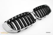 Решетки радиатора (ноздри) BMW F34 GT горбатые M3 стиль черные глянцевые с хромом GCP-033404