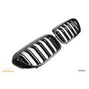 Решетки радиатора (ноздри) BMW G30 G31 горбатые сдвоенные M5 стиль черные глянцевые GCP-053001