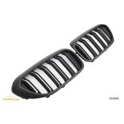 Решетки радиатора (ноздри) BMW G30 G31 горбатые сдвоенные M5 стиль FLAT BLACK GCP-053002