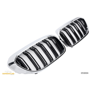 Решетки радиатора (ноздри) BMW G30 G31 горбатые сдвоенные M5 стиль черные / хром GCP-053004