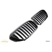 Решетки радиатора (ноздри) BMW G30 G31 горбатые сдвоенные M5 стиль черные глянцевые GCP-053021