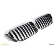 Решетки радиатора (ноздри) BMW G30 G31 горбатые сдвоенные M5 стиль черные глянцевые GCP-053024