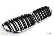 Решетки радиатора (ноздри) BMW 6 F06 F12 F13 горбатые M6 стиль черные глянцевые с хромом GCP-061204