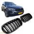 Решетки радиатора (ноздри) BMW X5 F15 X6 F16 горбатые сдвоенные X5M X6M стиль черные глянцевые GCP-081501