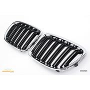 Решетки радиатора (ноздри) BMW X1 E84 горбатые сдвоенные M стиль черные / хром GCP-088404