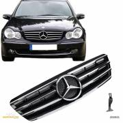 Решетка радиатора MERCEDES W203 CL AMG стиль BLACK CHROME GCP-203031-A638