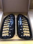 Решетки радиатора BMW G30 Diamond черные с серебряными каплями