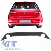 Диффузор заднего бампера VW Golf 7 2013-2016 GTI Look KITT RDVWG7GTI