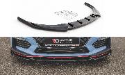 Сплиттер губа накладка переднего бампера HYUNDAI I30N Maxton Design V.5