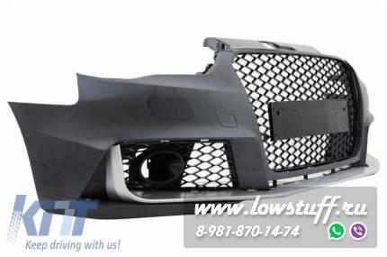 AUDI A3 8V 2012-2015 седан, cabrio передний бампер RS3 Brilliant Black Design KITT FBAUA38VRS