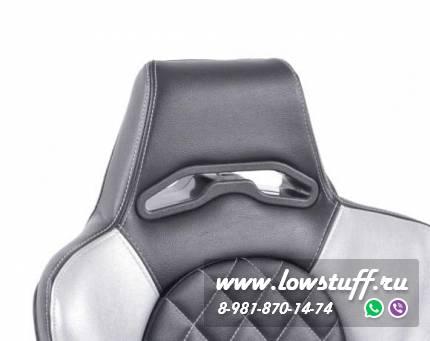Сиденья автомобильные полуковши черные с серыми вставками дермантин FK Automotive FKRSE011039