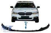 BMW G30 G31 губа переднего бампера черная матовая M Tech KITT FBSBMG30MATPB