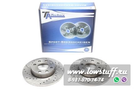 Тормозные диски 236mm x 12,6mm перфорированные с насечками Opel Corsa A B TA-TECHNIX EVOBS1009P