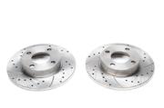 Тормозные диски 256mm x 13mm перфорированные с насечками Audi 100 44 TA-TECHNIX EVOBS1013P