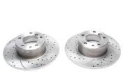Тормозные диски 302mm x 11,8mm перфорированные с насечками BMW 5er E34 518i TA-TECHNIX EVOBS1169P