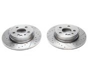 Тормозные диски 290mm x 12mm перфорированные с насечками Mercedes-Benz S-Klasse W140TA-TECHNIX EVOBS1171P