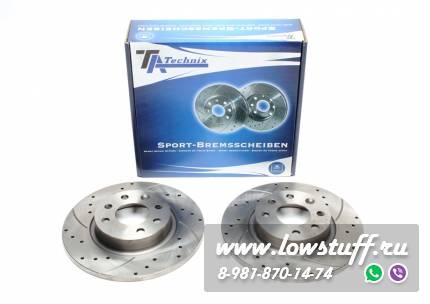 Тормозные диски 260mm x 12mm перфорированные с насечками Volvo 460L TA-TECHNIX EVOBS1278P