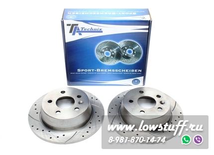 Тормозные диски 280mm x 10mm перфорированные с насечками Mercedes-Benz V-Klasse W638 TA-TECHNIX EVOBS1312P