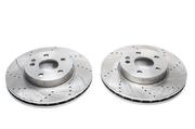 Тормозные диски 240mm x 10,9mm перфорированные с насечками Opel Corsa C TA-TECHNIX EVOBS1485P