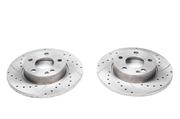 Тормозные диски 276mm x 12mm перфорированные с насечками Mercedes-Benz A-Klasse W169 TA-TECHNIX EVOBS1598P