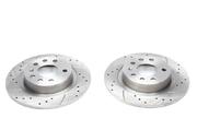 Тормозные диски 278mm x 10mm перфорированные с насечками Opel Astra H TA-TECHNIX EVOBS1652P