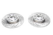 Тормозные диски 257mm x 12mm перфорированные с насечками Fiat Punto/ Grande Punto TA-TECHNIX EVOBS1791P