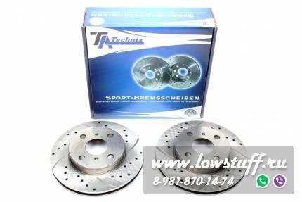 Тормозные диски 238mm x 22mm перфорированные с насечками Toyota Corolla Wagon E11 TA-TECHNIX EVOBS20117P