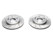 Тормозные диски 260mm x 22mm перфорированные с насечками Mercedes-Benz A-Klasse W168 TA-TECHNIX EVOBS20171P