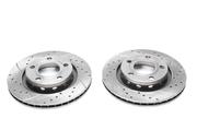 Тормозные диски 269mm x 21,9mm перфорированные с насечками Audi A8 D2 TA-TECHNIX EVOBS20202P