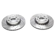 Тормозные диски 256mm x 20mm перфорированные с насечками Opel Corsa B TA-TECHNIX EVOBS2033P