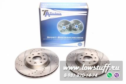 Тормозные диски 281mm x 26mm перфорированные с насечками Alfa Romeo Mito TA-TECHNIX EVOBS20349P
