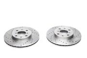 Тормозные диски 252mm x 20mm перфорированные с насечками Opel Agila TA-TECHNIX EVOBS20380P
