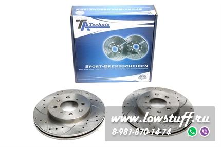 Тормозные диски 260mm x 23mm перфорированные с насечками Honda Civic VII Hatchback TA-TECHNIX EVOBS20391P