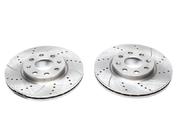 Тормозные диски 257mm x 22mm перфорированные с насечками Opel Corsa D TA-TECHNIX EVOBS20425P