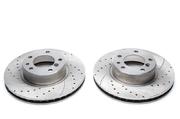 Тормозные диски 302mm x 28mm перфорированные с насечками BMW 5er E34 TA-TECHNIX EVOBS2371P