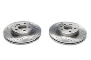 Тормозные диски 300mm x 22mm перфорированные с насечками Mercedes-Benz S-Klasse W140 TA-TECHNIX EVOBS2418P
