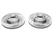 Тормозные диски 286mm x 24mm перфорированные с насечками Opel Omega B TA-TECHNIX EVOBS2533P