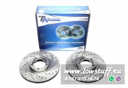 Тормозные диски 254mm x 24,2mm перфорированные с насечками Ford Transit Bus/Kasten/Pritsche TA-TECHNIX EVOBS2542P