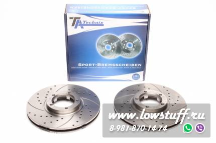 Тормозные диски 270mm x 24,2mm перфорированные с насечками Ford Transit Bus / Transit Kasten / Transit Pritsche TA-TECHNIX EVOBS2543P