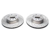 Тормозные диски 316mm x 28mm перфорированные с насечками BMW 7er E38 TA-TECHNIX EVOBS2739P