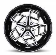 Диск Radi8 r8cm9 R18 9,5J PCD 5x100 ET 35 Gloss Black Machined Face